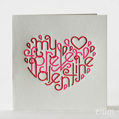 Intertwined Heart Valentine Card