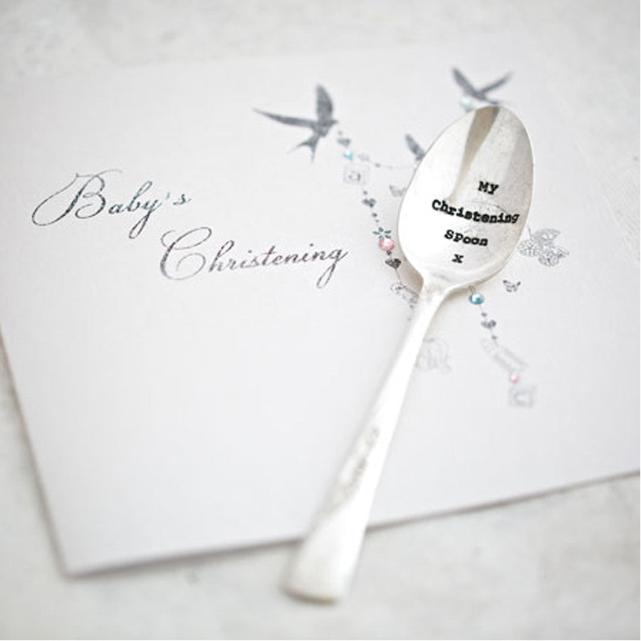 """My Christening spoon"" Vintage Tea Spoon -  Tableware - La De Da Living - Putti Fine Furnishings Toronto Canada"