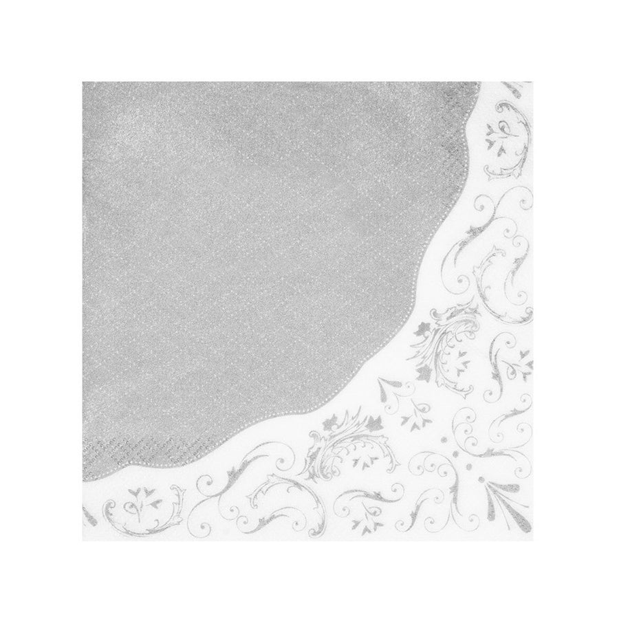 Party Porcelain Silver Paper Napkins