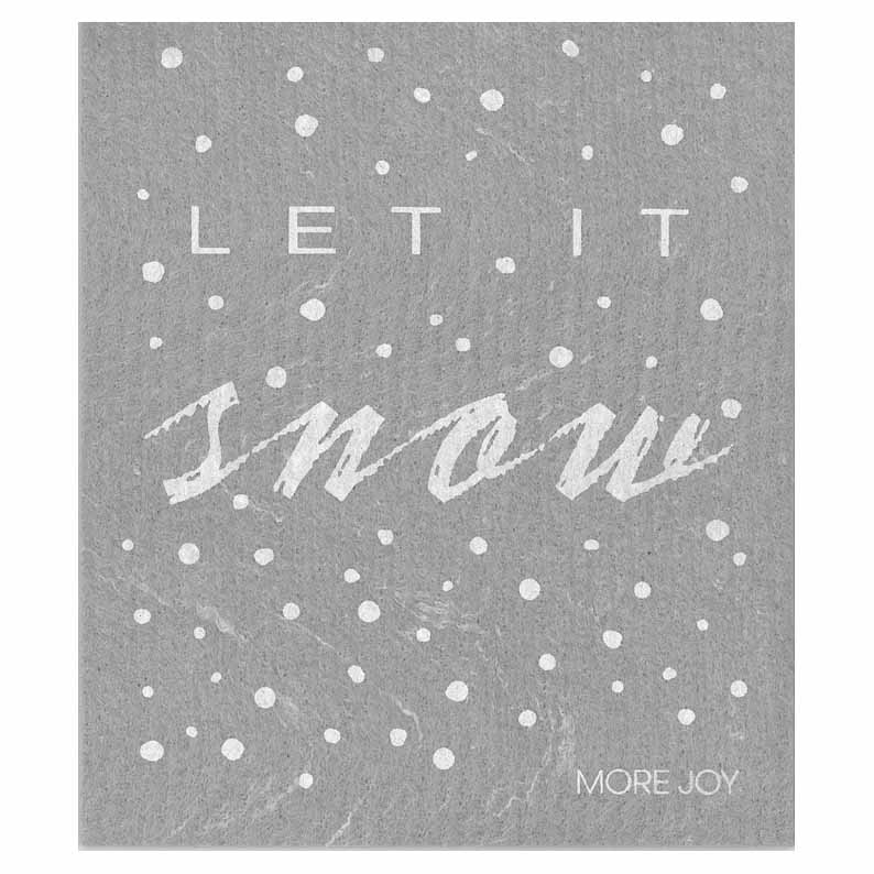 "More Joy ""Let it Snow"" Swedish Cloth 