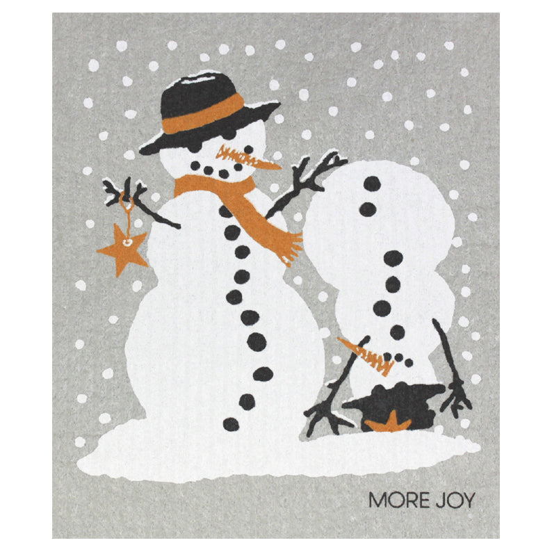 More Joy Snowmenn Swedish Cloth | Putti Celebrations