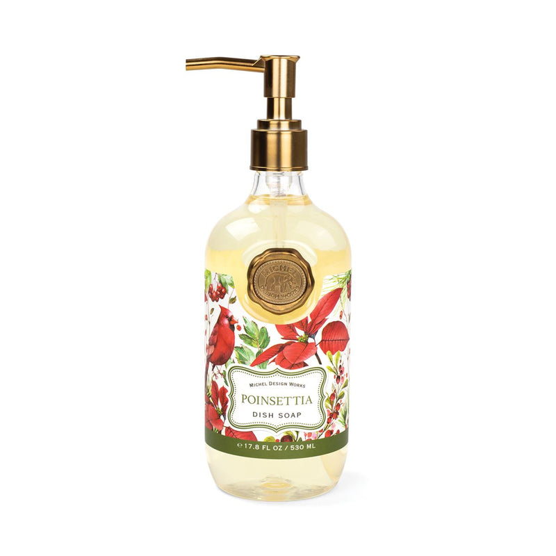 Michel Design Works Poinsettia Dish Soap | Putti Christmas Canada