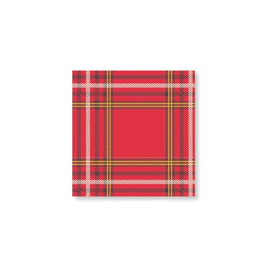 """Plaid Forest"" Beverage Napkin"