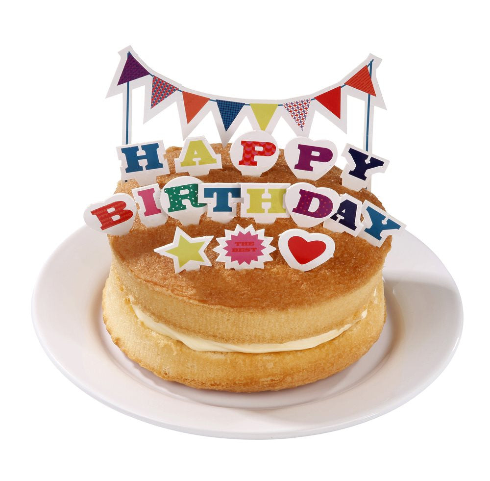 "Birthday Bash ""Happy Birthday"" Cake Topper, TT-Talking Tables, Putti Fine Furnishings"