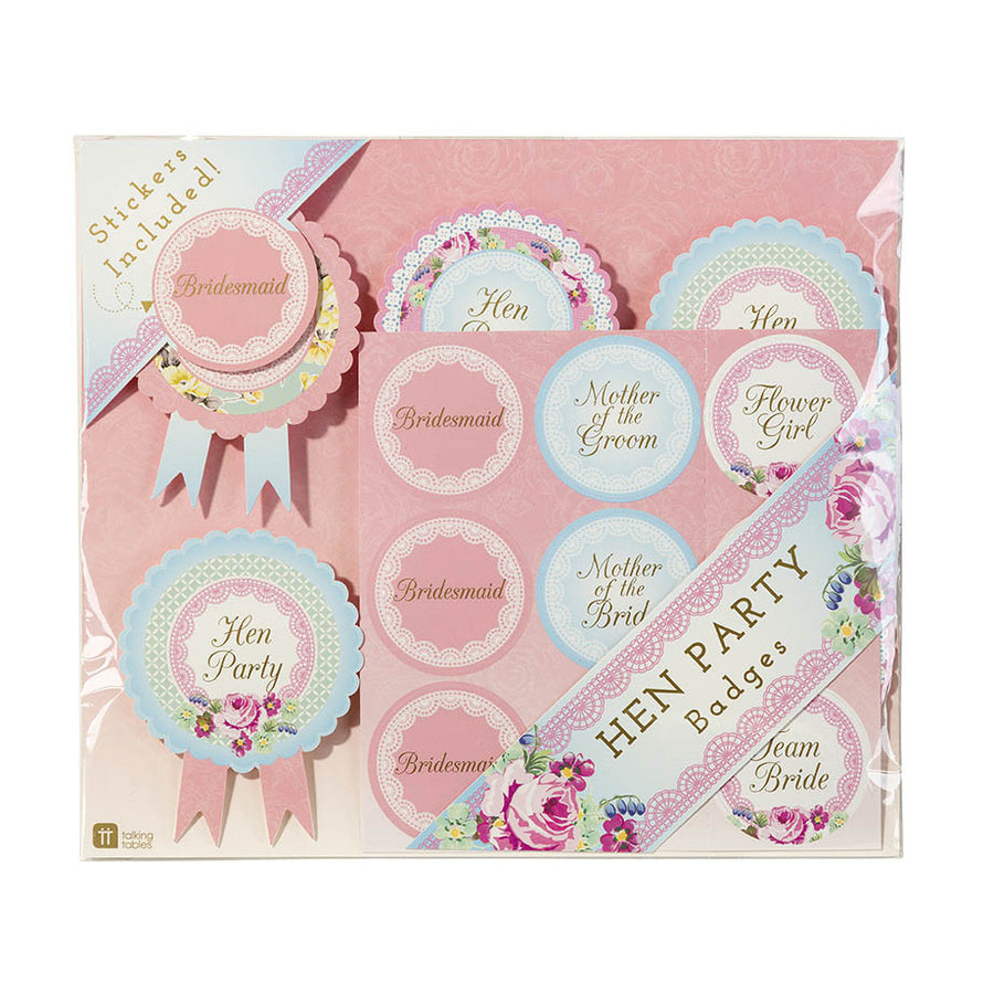 "Truly Hen Party ""Wedding Party"" Badges"