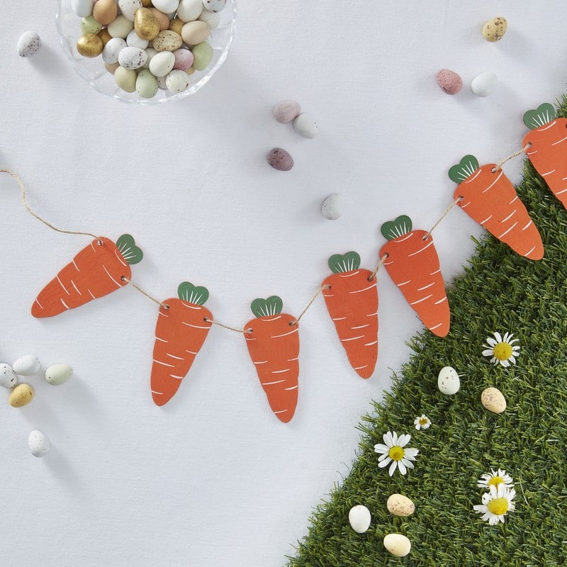 Wooden Carrot Garland