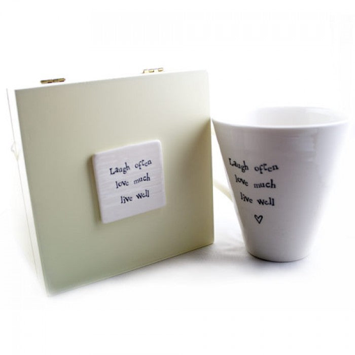 Mug in Box - Laugh Often, Love Well , Live Well