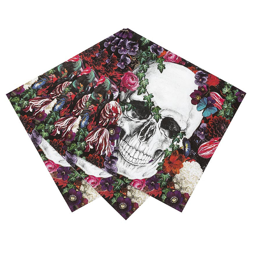 Baroque Skeleton Paper Napkins
