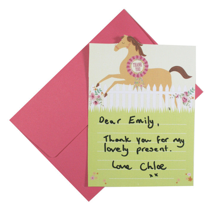 Pony Party - Free Printable Thank You Cards