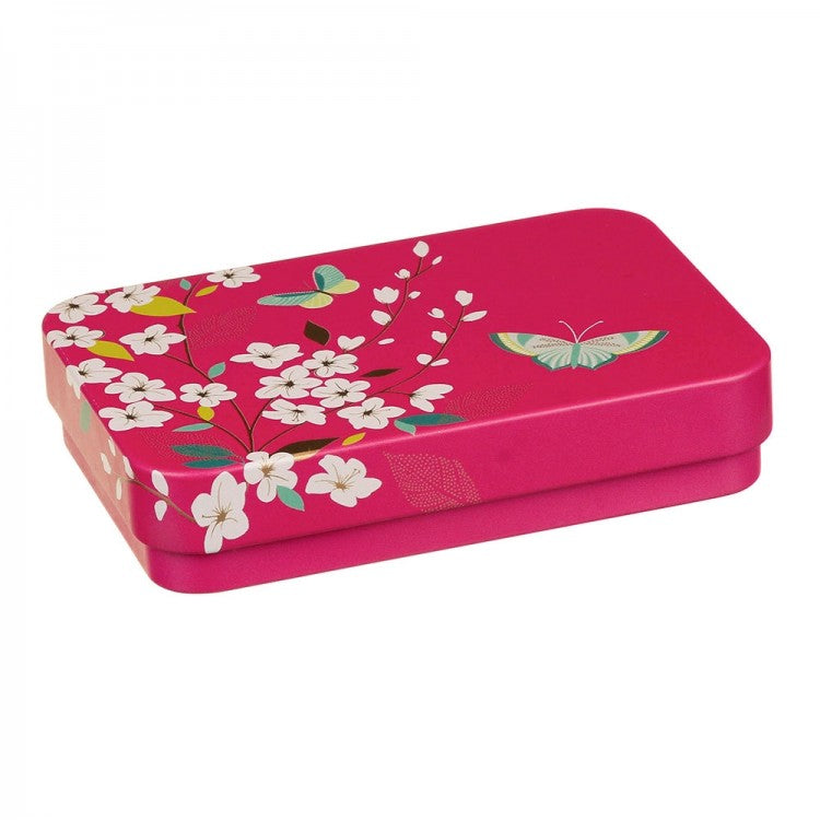 Sara Miller Small Rectangular Tin - Butterflies