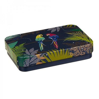 Sara Miller Small Rectangular Tin - Parrots |  Putti Fine Furnishings