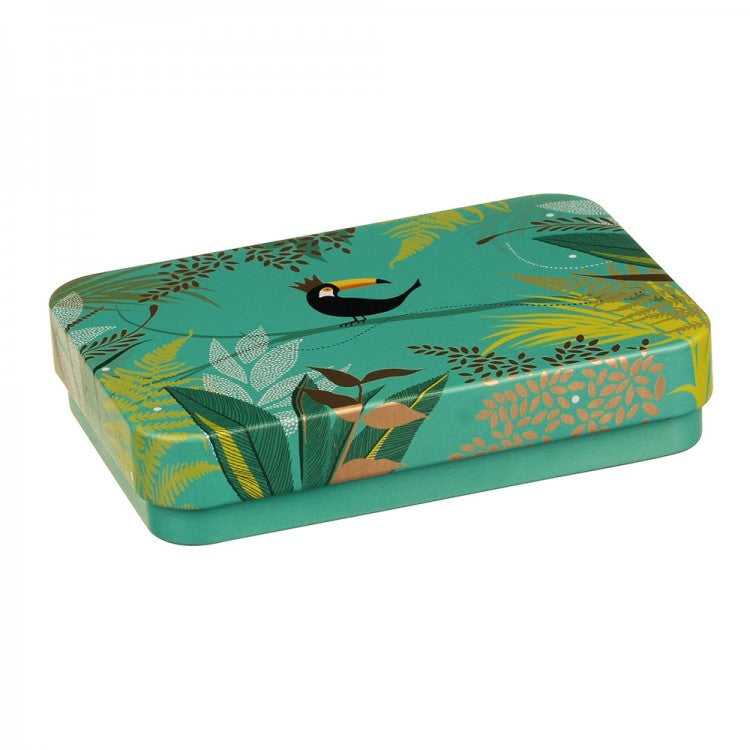 Sara Miller Small Rectangular Tin - Toucan