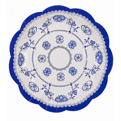 Party Porcelain Blue Small Paper Plate -  Party Supplies - Talking Tables - Putti Fine Furnishings Toronto Canada - 2