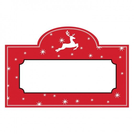 Reindeer Games Red Place Cards, CRG-CR Gibson, Putti Fine Furnishings