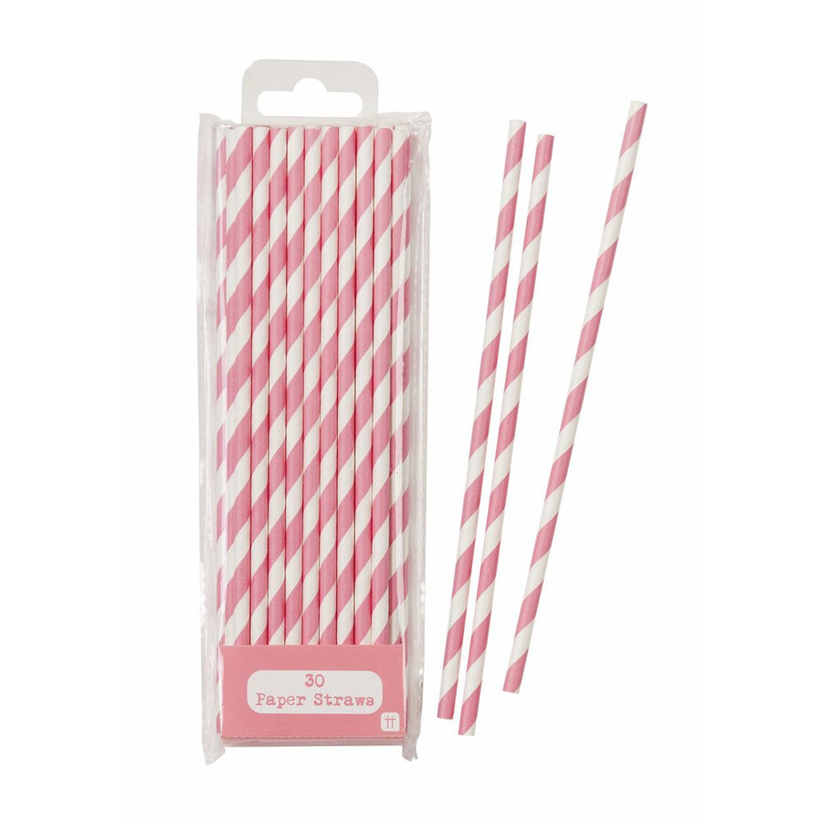 Mix & Match Pink Stripped Straws