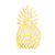 Die Cut Gold Pineapple Napkins