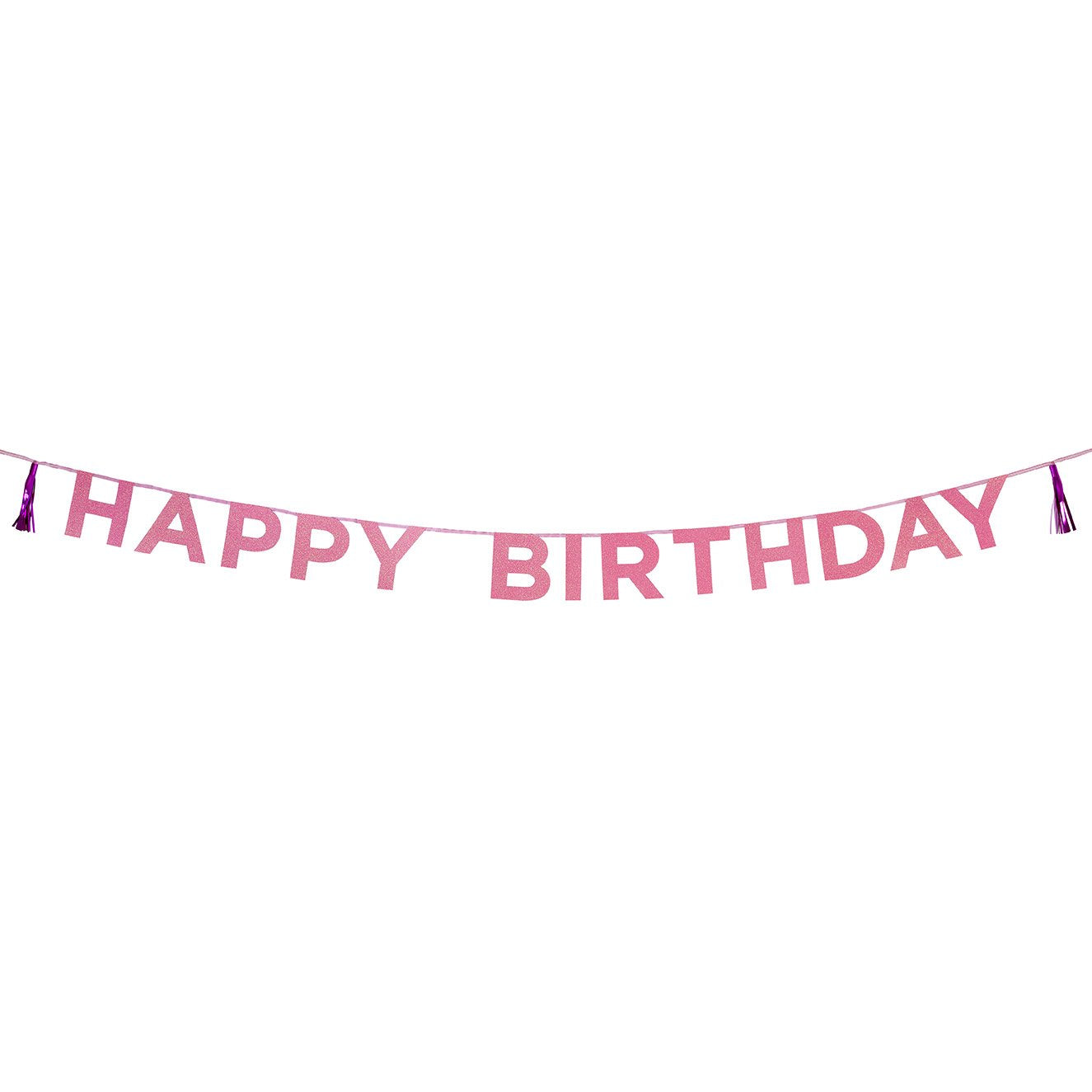 "Talking Tables Say It With Glitter Pink ""Happy Birthday"" Banner 