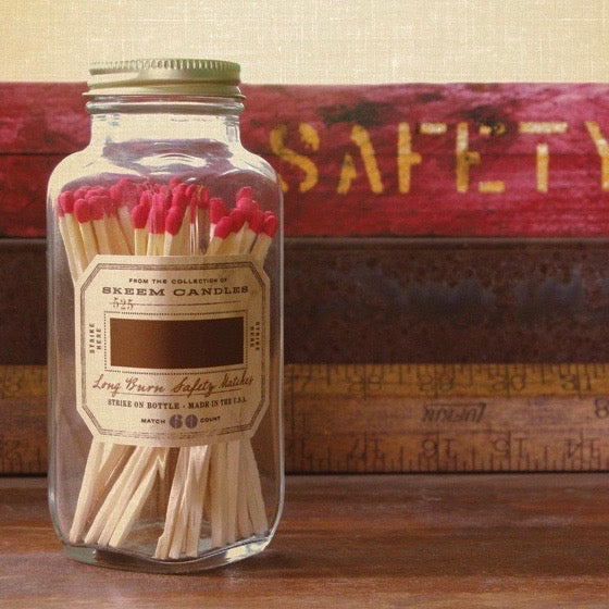 Skeem Design Antique Bottle Matches - Red, SD-Skeem Design - The Tate Group, Putti Fine Furnishings