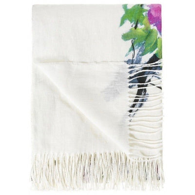 Designers Guild Faience Blanc Throw - Putti Fine Furnishings Canada