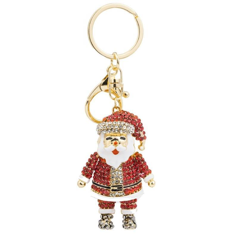 Santa Crystal Bag Charm Key Chain
