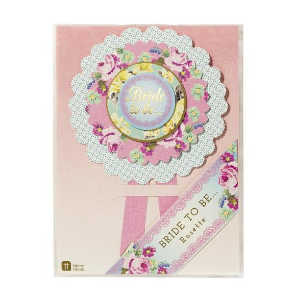 "Truly Hen Party ""Bride to Be"" Rosette"
