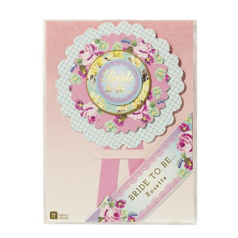 "Truly Hen Party ""Bride to Be"" Rosette-Party Supplies-TT-Talking Tables-Putti Fine Furnishings"