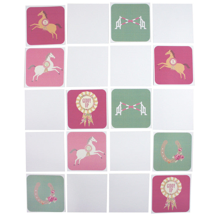 Pony Party - Free Printable Memory Game