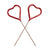 Red Heart Shaped Sparklers, TT-Talking Tables, Putti Fine Furnishings