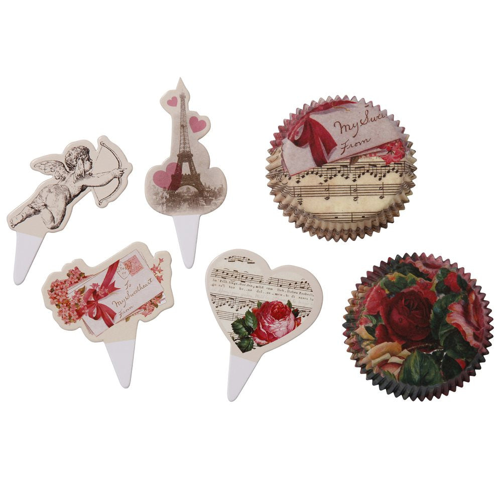 Love Talk Cupcake and Topper Set, TT-Talking Tables, Putti Fine Furnishings