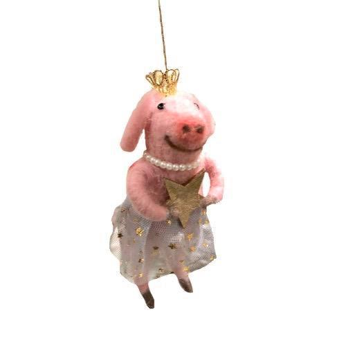 "Felt Pig Ornament with Tutu ""Friends of Alan""  