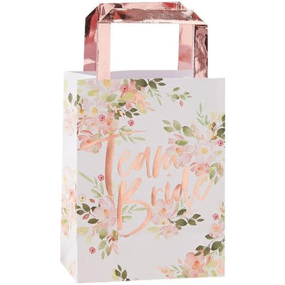 "Ginger Ray ""Team Bride"" Floral Favour Bags - Putti Celebrations Canada"