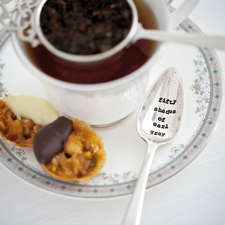 """Fifty shades of Earl Grey"" Vintage Tea Spoon"