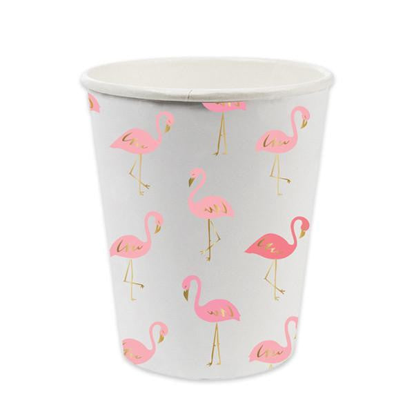 Pink Flamingo Paper Cups, SC-Slant Collections, Putti Fine Furnishings
