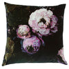 Floralisim Peonies Velvet Cushion 60cm x 60cm, B&C-Boho & Co, Putti Fine Furnishings