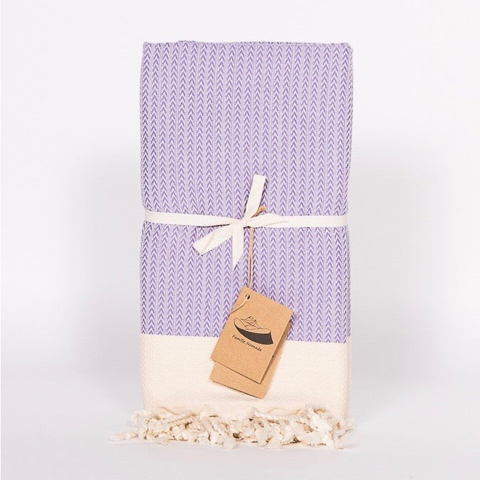 Herringbone Fouta Towel - Lilac, FN-Famille Nomade, Putti Fine Furnishings