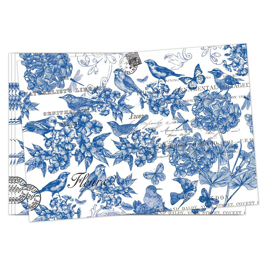 Indigo Cotton Fabric Placemats