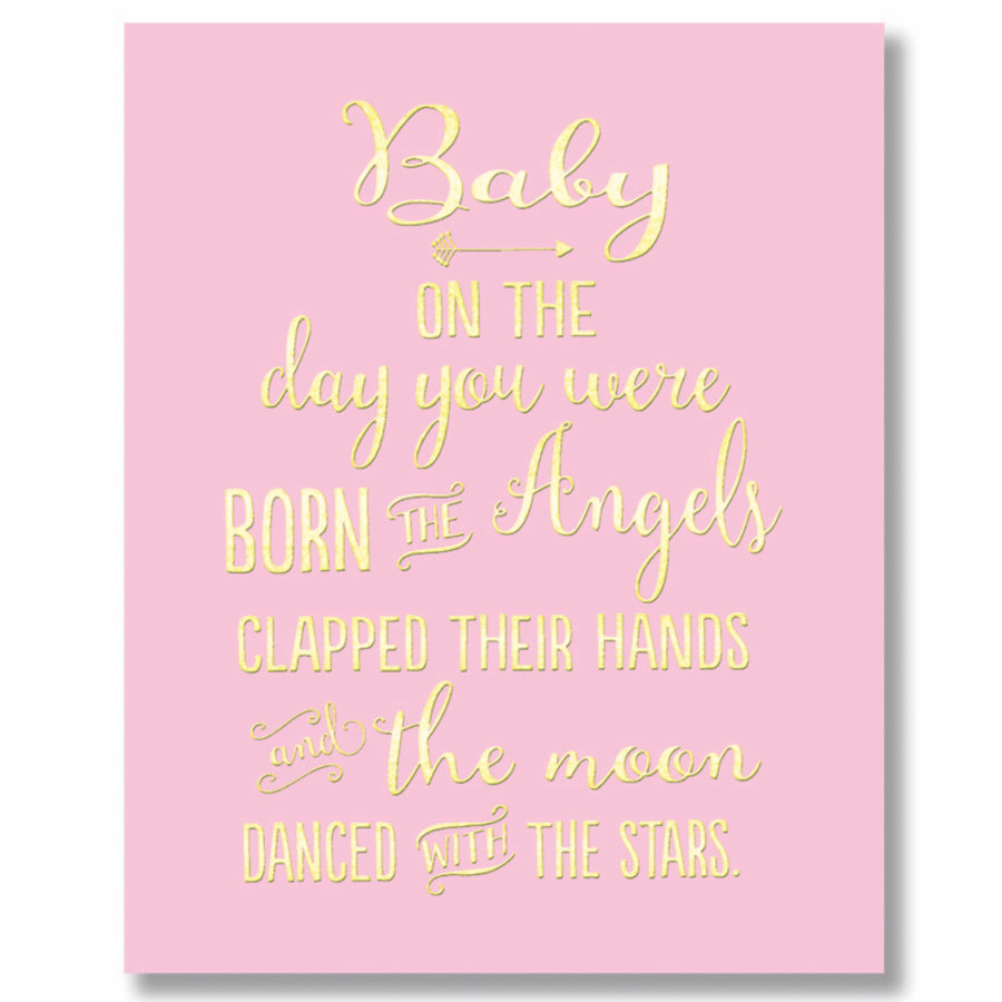 """Baby Girl Angels"" Greeting Card"