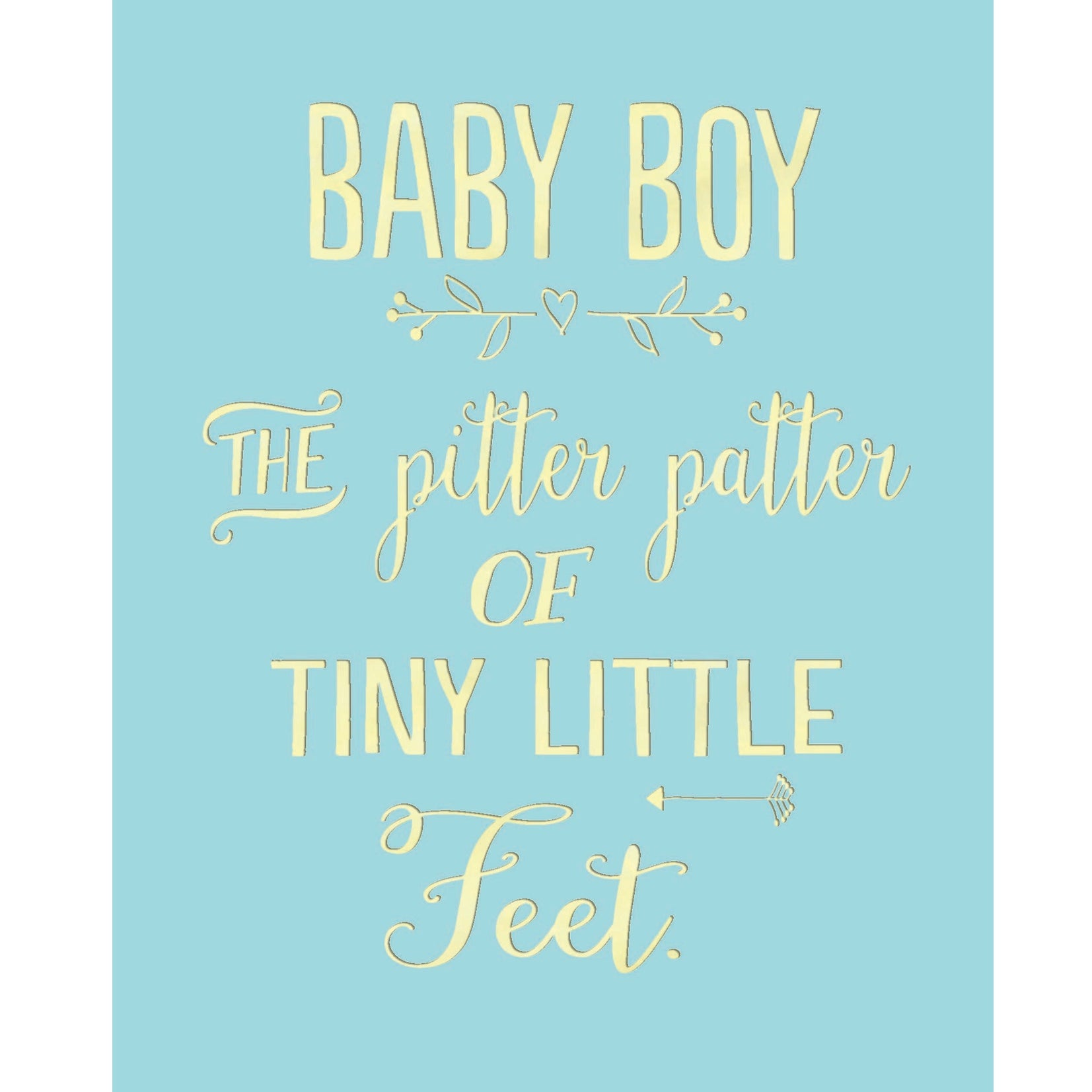 """Baby Boy Pitter Patter"" Greeting Card, BB-Bluebell 33, Putti Fine Furnishings"