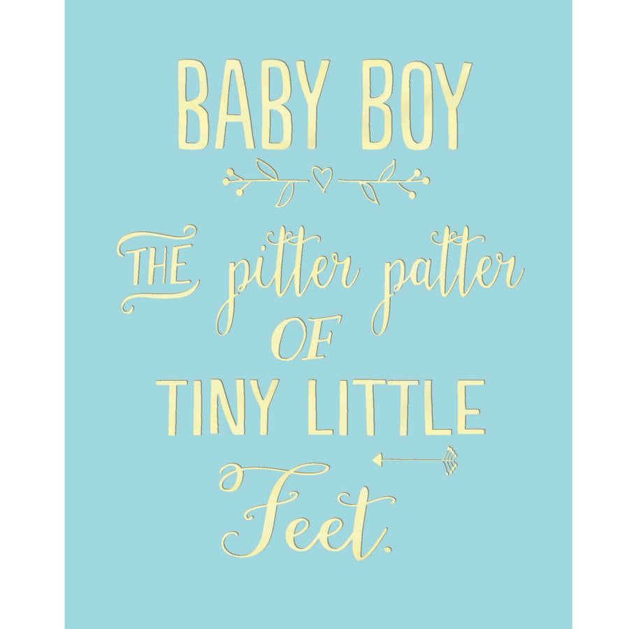 """Baby Boy Pitter Patter"" Greeting Card"