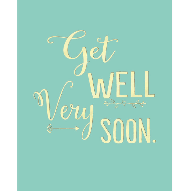 """Get Well Very Soon"" Greeting Card, BB-Bluebell 33, Putti Fine Furnishings"