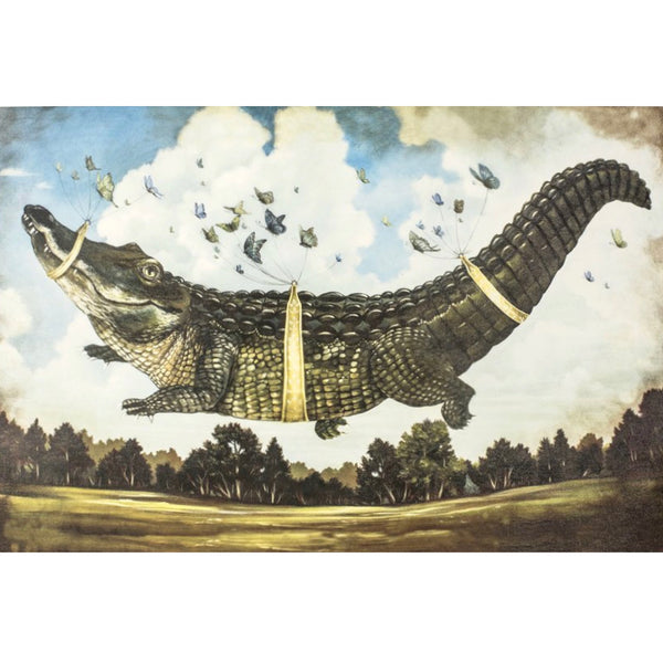 "Hester & Cook ""Alligator's Big Day"" Paper Placemat, Kitchen Papers, Putti Fine Furnishings"
