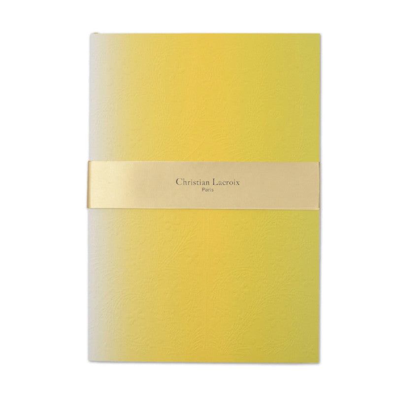Christian Lacroix Embossed Paseo Notebook -Neon Yellow Ombre