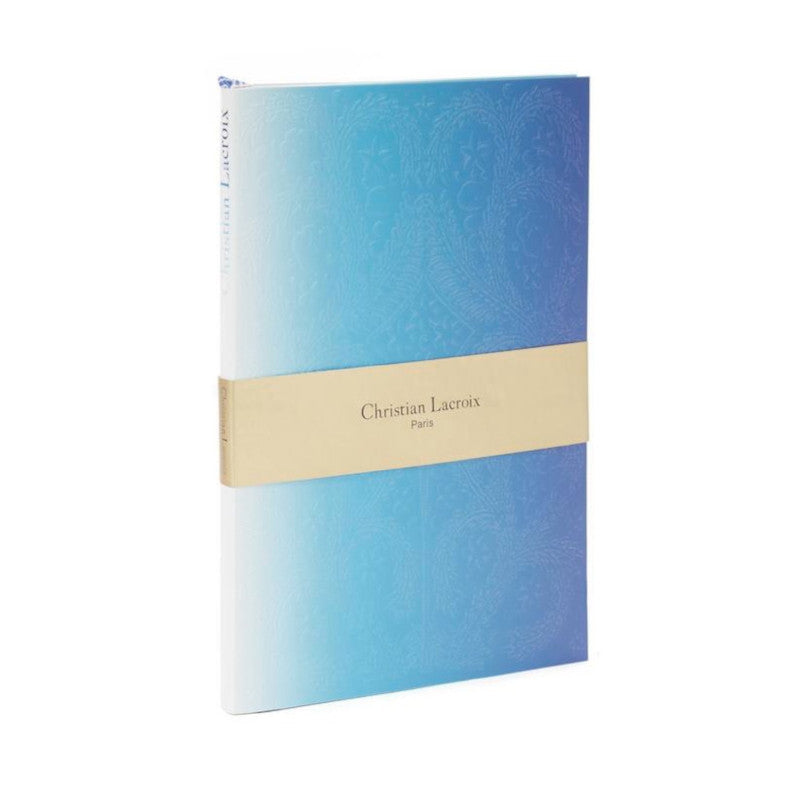 Christian Lacroix Embossed Paseo Notebook -Neon Blue Ombre