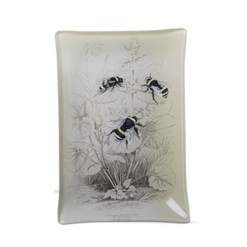 Honey Bee Small Glass Plate