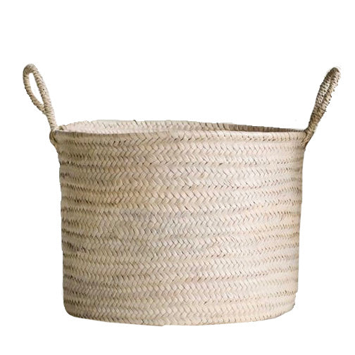 Natural Handwoven Moroccan Basket with Handles, CCO-Creative Co-op - Design Home, Putti Fine Furnishings