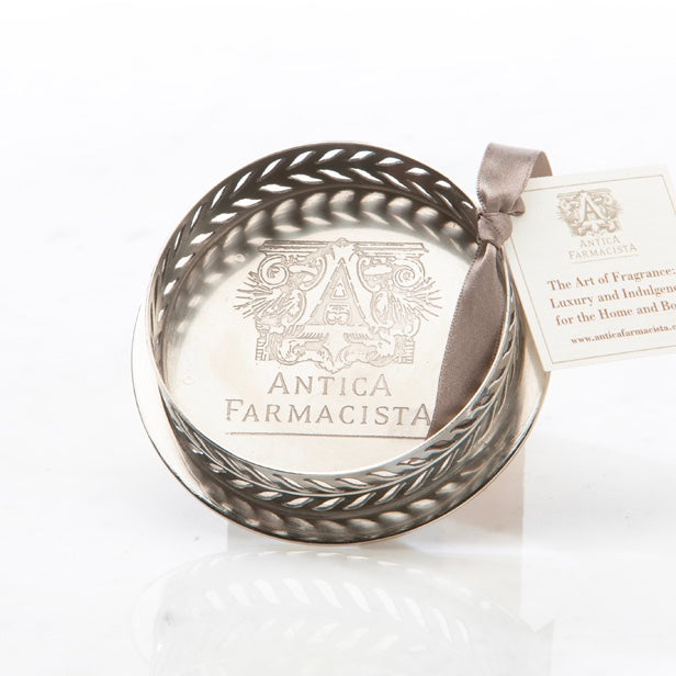 Antica Farmacista  Nickel Plated Round Tray - 250ml size