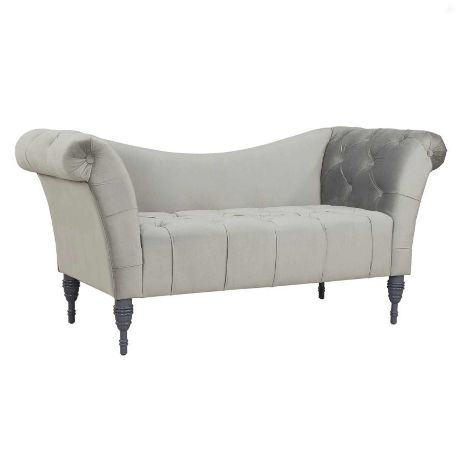 Grey Velvet Tufted Sette, WHF-Worldwide Home Furnishings Inc., Putti Fine Furnishings