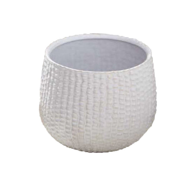 Tozai White Ceramic Sea Urchin Cachepot
