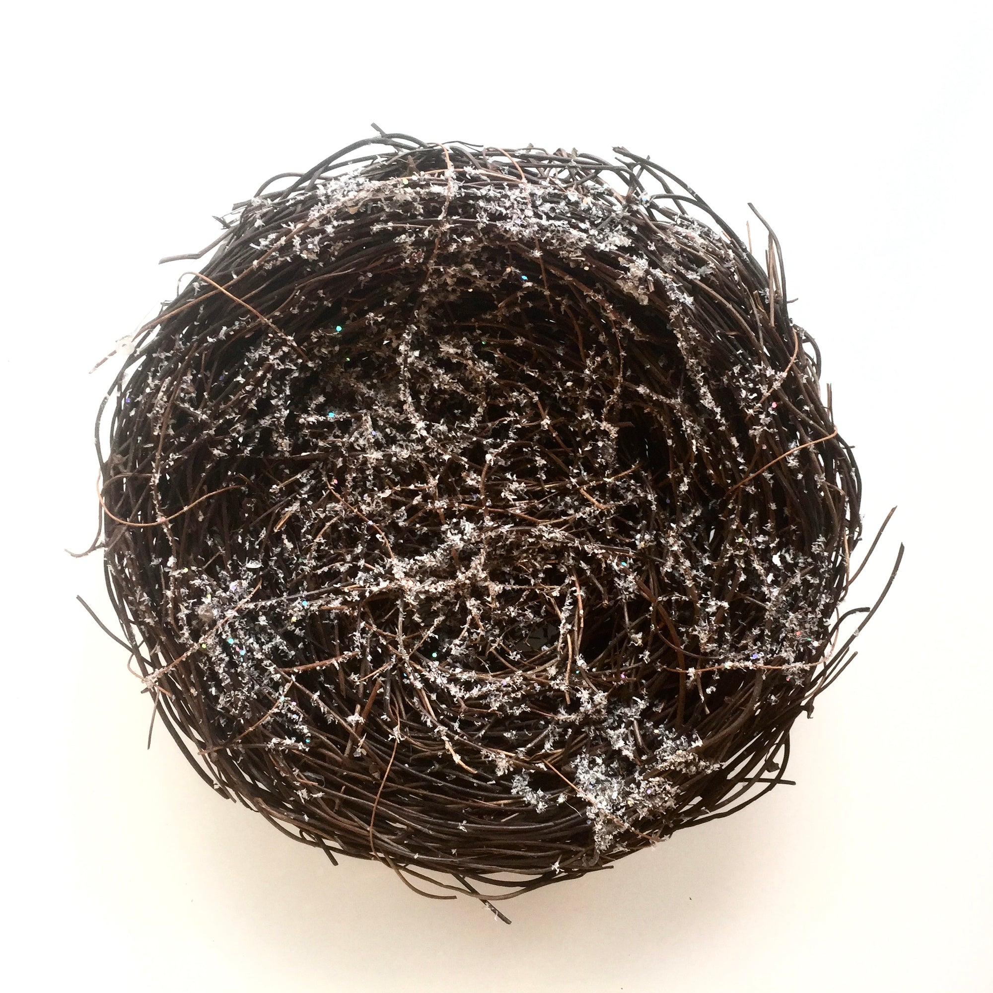 Frosted Bird's Nest Ornament, V&L-V & L Associates Inc., Putti Fine Furnishings