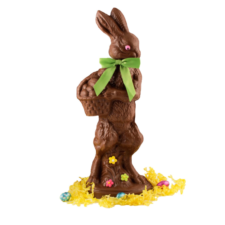 Large Chocolate Bunny with Basket